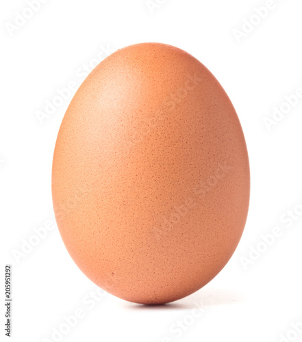 Foto Murales single chicken egg isolated on white background