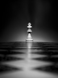 Scacchi fotografati su una scacchiera - 205952829