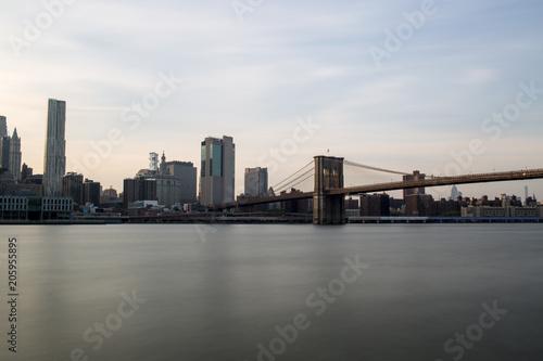 New York con ponte di Brooklyn