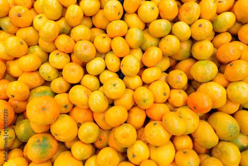 Widok z góry Pomarańczowych Owoców