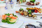 beautifully served table in a restaurant - 205957438