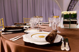 beautifully served table in a restaurant - 205958039