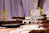 beautifully served table in a restaurant - 205958069