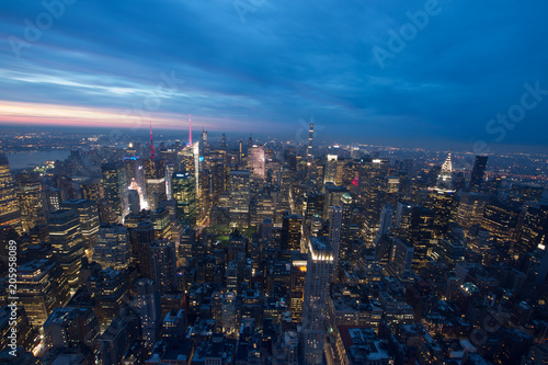 Foto Murales New York panorama dall'empire state bilding
