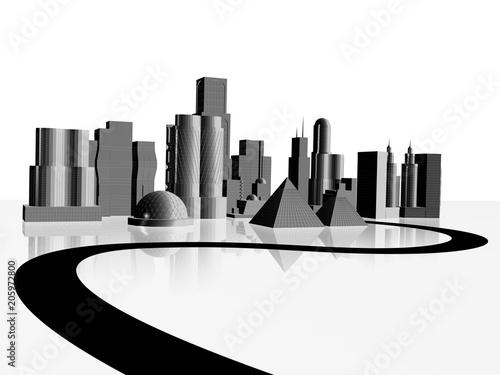 3d illustration od skyscraper