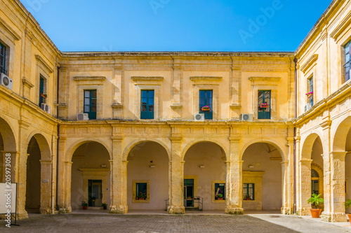 Wall mural Courtyard of the town hall of Modica, Sicily, Italy