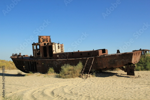 Fotobehang Schip Ship graveyards