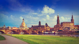 Dresden skyline and Elbe river in Saxony Germany - 205979413
