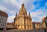 Dresden Frauenkirche church in Saxony Germany - 205981265
