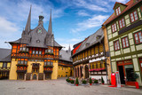 Wernigerode Rathaus Stadt city hall Harz Germany - 205991439
