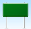 green sign design with sky background
