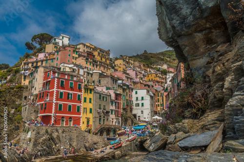 Aluminium Liguria Riomagiorre town in Cinque Terre Italy