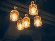 Lighting Interior decoration hanging lamp lightbulbs Vintage style