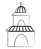church icon over white background, vector illustration