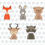 Forest animals for posters