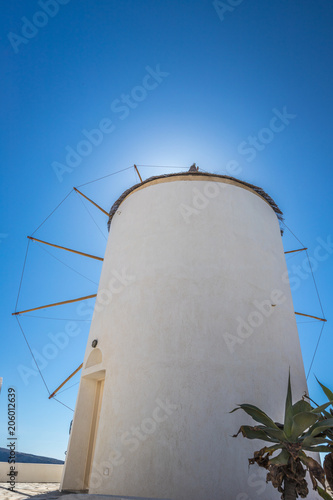 Aluminium Santorini Windmill in Santorini Greece