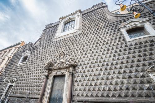 Aluminium Napels Gesu church in Napoli Italy
