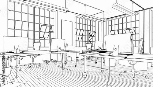 Industrial Office Area (sketch)