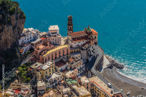 The Town of Atrani near Amalfi Italy