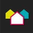 fond abstrait maison - 206016893