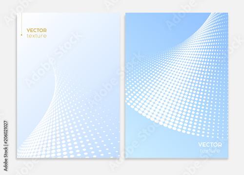 Fototapeta Abstract covers design. Subtle halftone gradients. Business brochure concepts. Vector graphic.