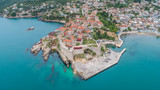 Aerial view of the old town Ulcinj - 206022616
