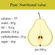 Healthy Lifestyle. Pear.  - 206023224