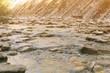 Mountain brook flowing among stones.
