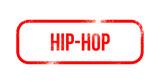 Hip-Hop red grunge rubber - stamp - 206032633