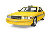 Fototapety Yellow Taxi Isolated