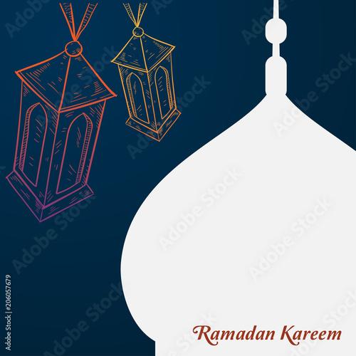 ramadan kareem islamic background template