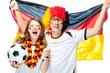 Leinwanddruck Bild - Fussball Fans Deutschland
