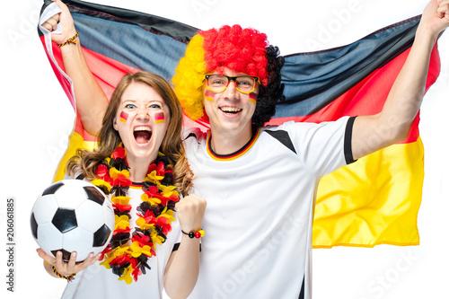 Leinwanddruck Bild Fussball Fans Deutschland