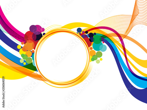 abstract artistic creative rainbow wave explode