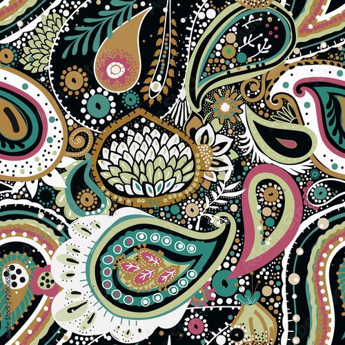 Cotton fabric Paisley