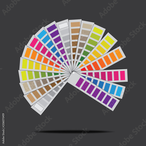 Pantone Illustration With a gray background