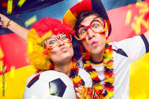 Leinwanddruck Bild Deutsche Fussball fans