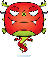 Evil Cartoon Chinese Dragon Sticker