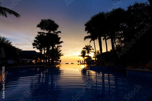 Foto Murales Sea in the evening