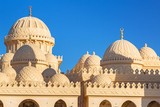 Beautiful architecture of Mosque in Hurghada, Egypt - 206077625