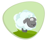 Lamb in the meadow.Vector illustration