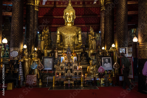Canvas Boeddha Laos - Luang Prabang - Wat Mai (Vatmay)