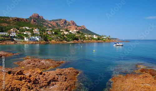Foto Murales sea with rocks
