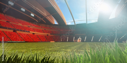 3D illustration/3D rendering of a sport stadium background made without existing 