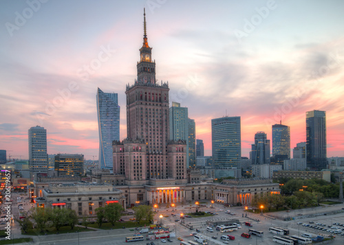 View of the city center. Warsaw, Poland. - 206119657