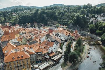 Średniowieczne czeskie miasteczko Czeski Krumlow