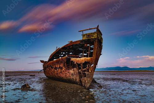 Fotobehang Schip Janie Seddon ship wreck Abel Tasman New Zealand