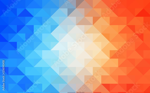 Light Blue, Yellow vector blurry triangle template.