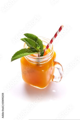 fresh cold drink in jar