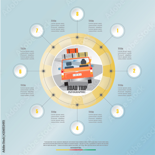 road trip  business infographic